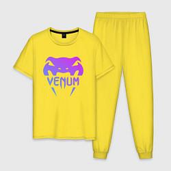 Пижама хлопковая мужская Venum цвета желтый — фото 1
