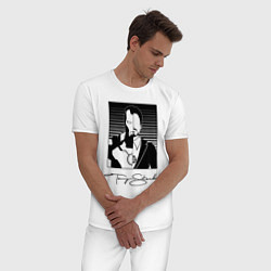 Пижама хлопковая мужская Tony Stark цвета белый — фото 2