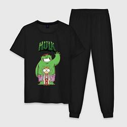 Пижама хлопковая мужская Hulk цвета черный — фото 1