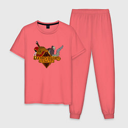 Пижама хлопковая мужская Darksiders Genesis цвета коралловый — фото 1