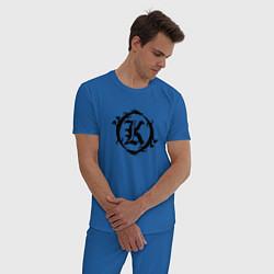 Пижама хлопковая мужская Кукрыниксы спина цвета синий — фото 2