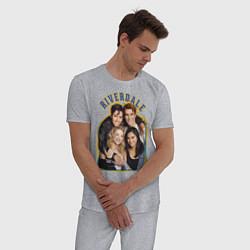 Пижама хлопковая мужская Riverdale heroes цвета меланж — фото 2