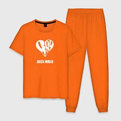Пижама хлопковая мужская JUICE WRLD цвета оранжевый — фото 1