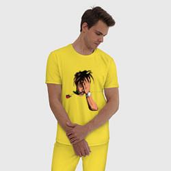 Пижама хлопковая мужская Juice WRLD цвета желтый — фото 2