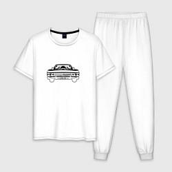 Пижама хлопковая мужская Импала Винчестеров цвета белый — фото 1