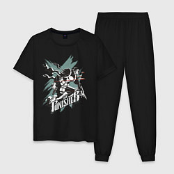 Пижама хлопковая мужская The Punisher цвета черный — фото 1