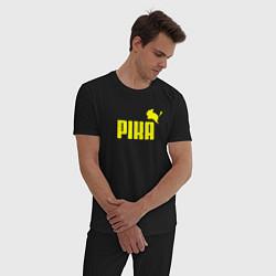 Пижама хлопковая мужская PIKA цвета черный — фото 2