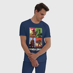 Пижама хлопковая мужская The Mandalorian цвета тёмно-синий — фото 2