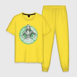 Пижама хлопковая мужская Bernadette цвета желтый — фото 1