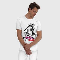 Пижама хлопковая мужская JOJOS BIZARRE ADVENTURE цвета белый — фото 2