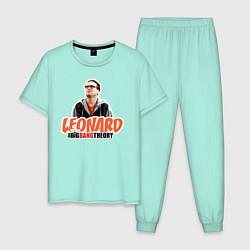 Пижама хлопковая мужская Leonard цвета мятный — фото 1