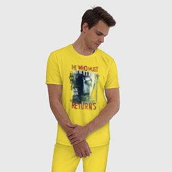 Мужская хлопковая пижама с принтом Гарри Поттер, цвет: желтый, артикул: 10218566105937 — фото 2