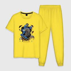 Пижама хлопковая мужская Гарри Поттер цвета желтый — фото 1
