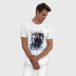 Пижама хлопковая мужская Harry Potter: Death Eater цвета белый — фото 2