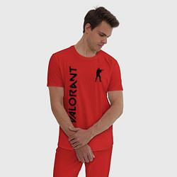 Пижама хлопковая мужская VALORANT цвета красный — фото 2