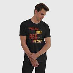 Пижама хлопковая мужская Red Blur цвета черный — фото 2