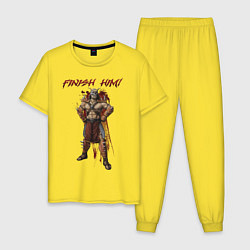 Пижама хлопковая мужская Shao Kahn: Finish Him цвета желтый — фото 1