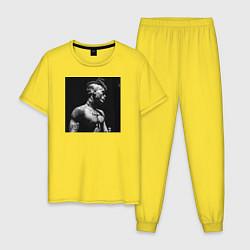 Пижама хлопковая мужская XXXTentacion цвета желтый — фото 1