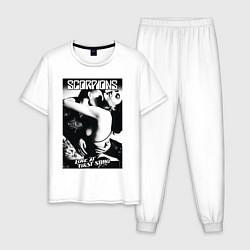 Пижама хлопковая мужская Scorpions цвета белый — фото 1