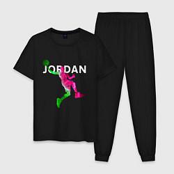 Пижама хлопковая мужская MICHAEL JORDAN Z цвета черный — фото 1