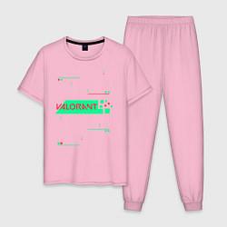Пижама хлопковая мужская VALORANT цвета светло-розовый — фото 1
