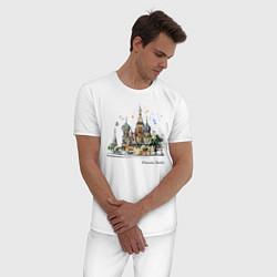Пижама хлопковая мужская Москва, Россия цвета белый — фото 2