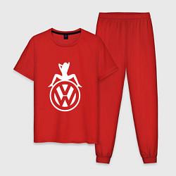 Пижама хлопковая мужская Volkswagen Girl Z цвета красный — фото 1