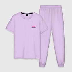 Пижама хлопковая мужская SUBARU STI спина Z цвета лаванда — фото 1