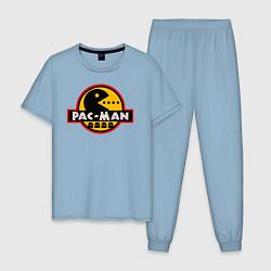 Пижама хлопковая мужская PAC-MAN цвета мягкое небо — фото 1