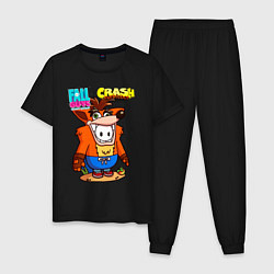 Пижама хлопковая мужская Fall Guys CRASH цвета черный — фото 1