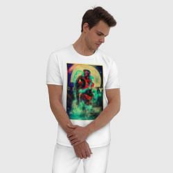 Пижама хлопковая мужская Destiny цвета белый — фото 2