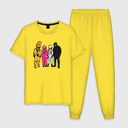 Пижама хлопковая мужская Among Us цвета желтый — фото 1