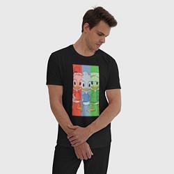Пижама хлопковая мужская Вилли, Билли, Дилли цвета черный — фото 2
