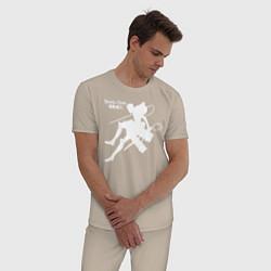 Пижама хлопковая мужская Атака на титанов цвета миндальный — фото 2