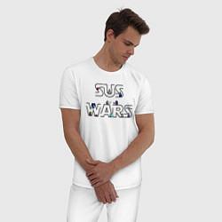 Пижама хлопковая мужская Among Us Sus Wars цвета белый — фото 2