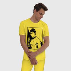 Пижама хлопковая мужская StarTrek Spock Z цвета желтый — фото 2