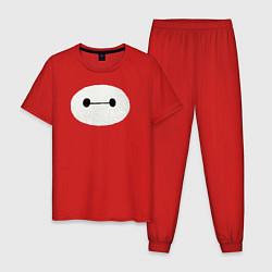 Пижама хлопковая мужская Baymax цвета красный — фото 1