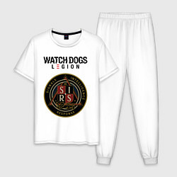 Пижама хлопковая мужская S I R S Watch Dogs Legion цвета белый — фото 1
