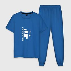 Пижама хлопковая мужская Among Us цвета синий — фото 1