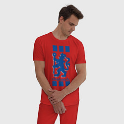 Пижама хлопковая мужская Chelsea FC цвета красный — фото 2