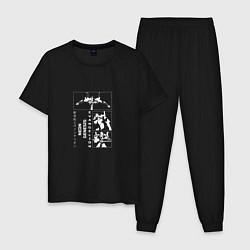 Пижама хлопковая мужская Евангелион цвета черный — фото 1