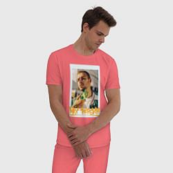 Пижама хлопковая мужская Max Barskih цвета коралловый — фото 2