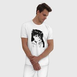 Пижама хлопковая мужская Аска ева 02 цвета белый — фото 2
