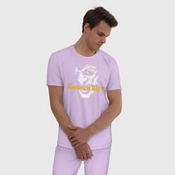 Пижама хлопковая мужская Король и Шут цвета лаванда — фото 2