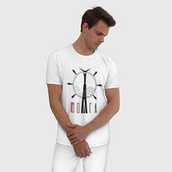 Пижама хлопковая мужская Волга цвета белый — фото 2