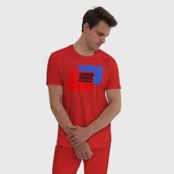 Пижама хлопковая мужская Союз MMA России цвета красный — фото 2