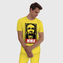 Пижама хлопковая мужская Конор МакГрегор цвета желтый — фото 2