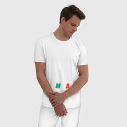 Пижама хлопковая мужская Конор МакГрегор цвета белый — фото 2
