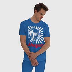 Пижама хлопковая мужская Ahegao цвета синий — фото 2
