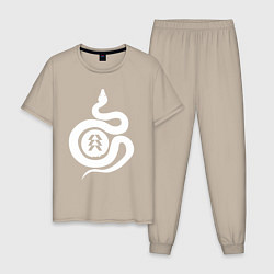 Пижама хлопковая мужская DESTINY 2 цвета миндальный — фото 1